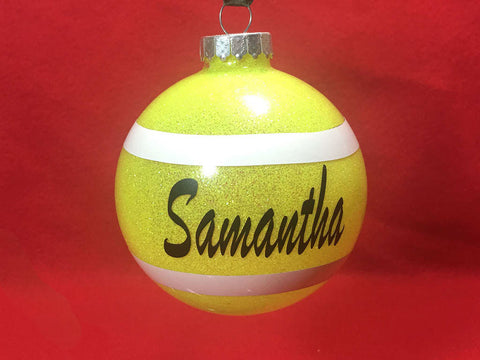 personalized tennis ornament