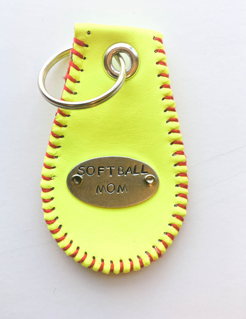 softball mom key chain