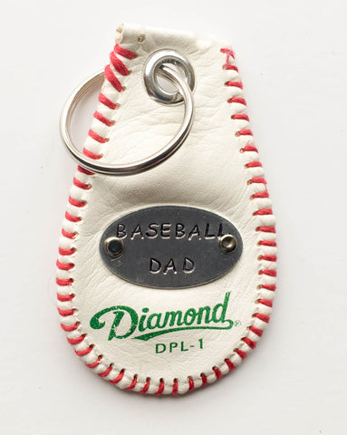 baseball dad key chain