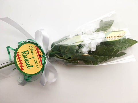 softball rose senior night bouquet