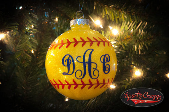 Softball Ornament - SportzCrazyMama