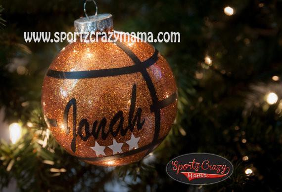 BASKETBALL ORNAMENT - SportzCrazyMama