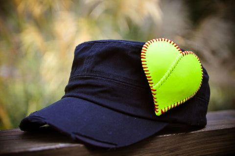 Softball Mom Heart Hat - SportzCrazyMama