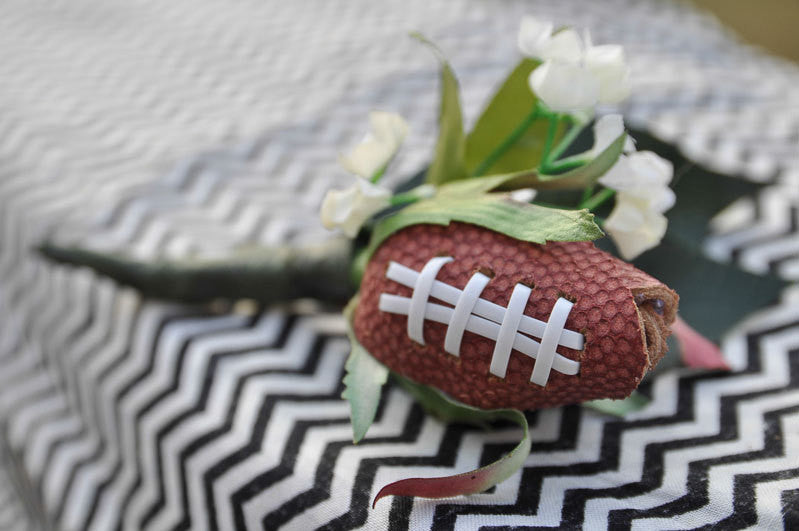 Football Rose Boutineer - SportzCrazyMama