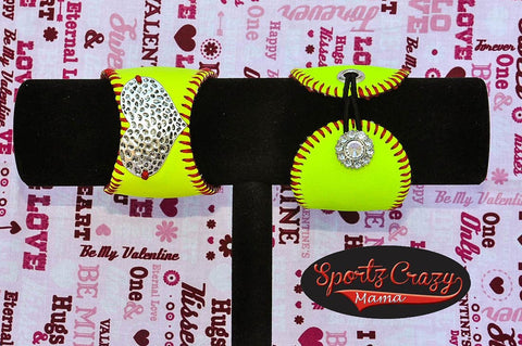 Softball Heart Cuff