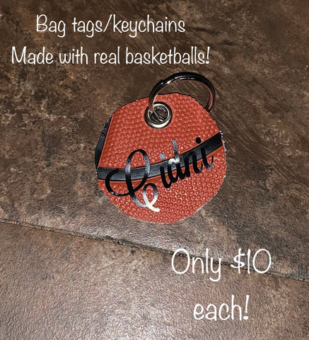 Bag tags/keychains