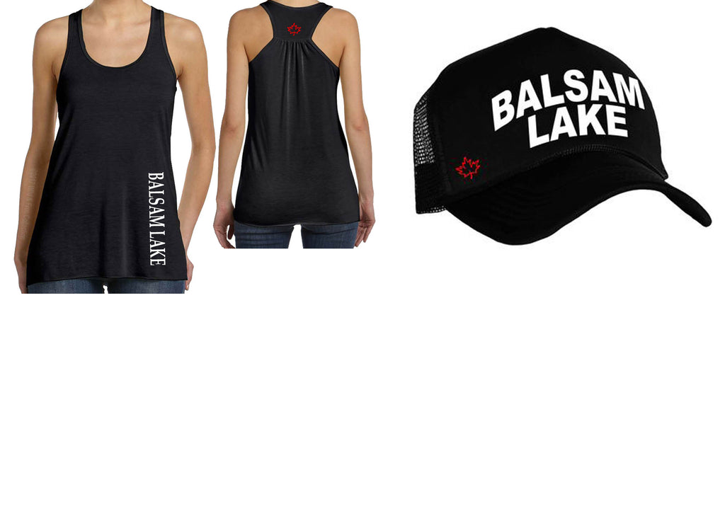 Balsam Lake Tank Top and Trucker Hat