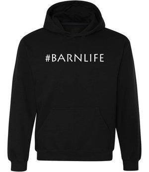 #Barnlife graphic hoodie in black and white