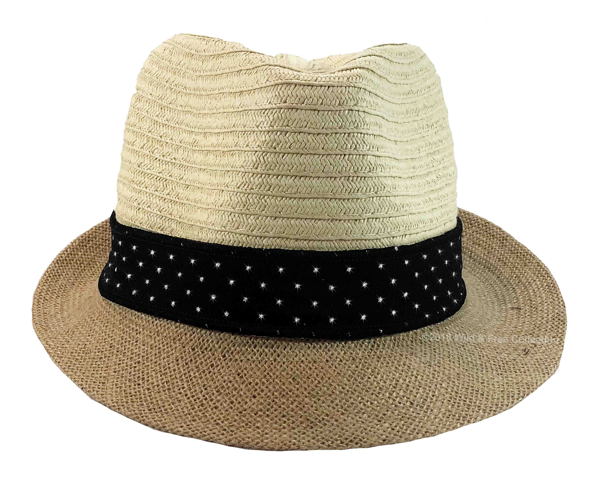 Glam Fedora Hat with Sparkly Black Band ... 3d642265514