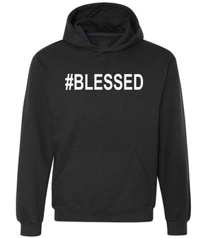 #Blessed hoodie in black and white