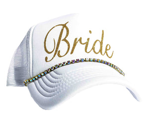 Bride Rhinestone Trucker Hat