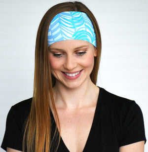 Wide yoga fitness headband