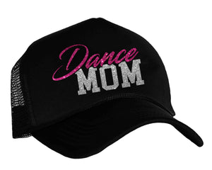 Dance Mom Trucker Hat in hot pink and silver