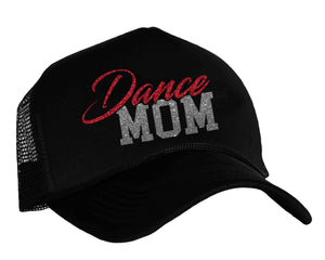 Dance Mom Snapback Trucker Cap in black, red and charcoal