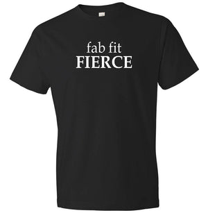 Fab Fit Fierce graphic t-shirt in black and white