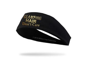 Glamping Hair Don't Care Headband in black and gold