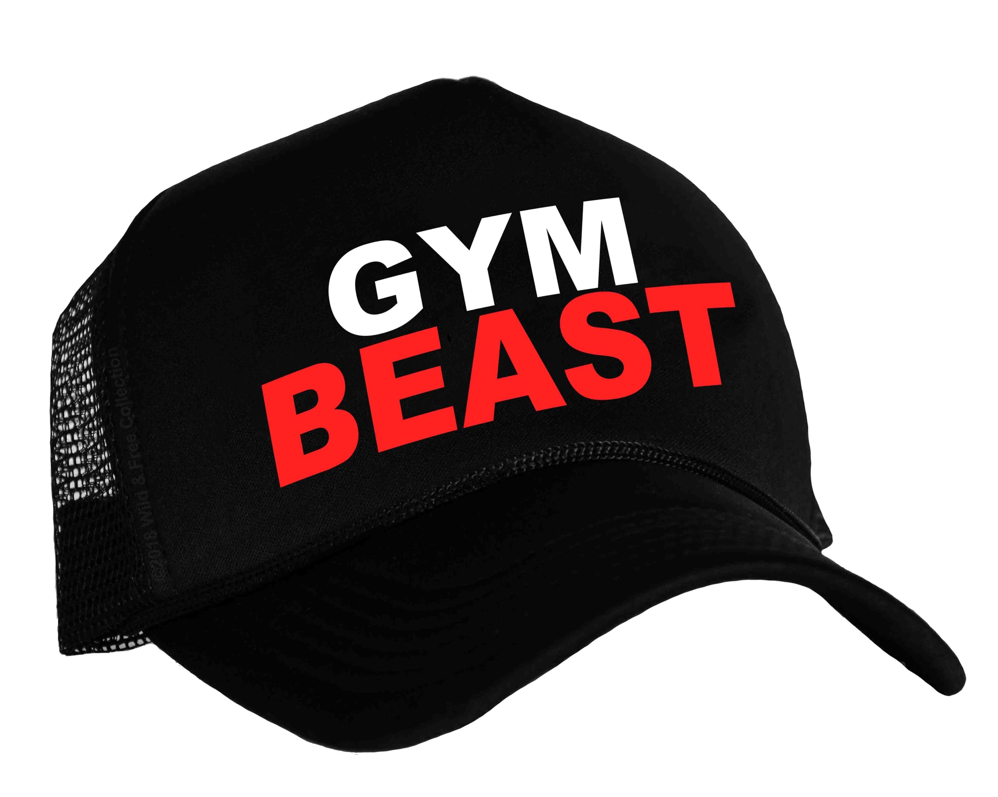 aeff1c9f7c0ec ... Gym Beast snapback trucker hat in black