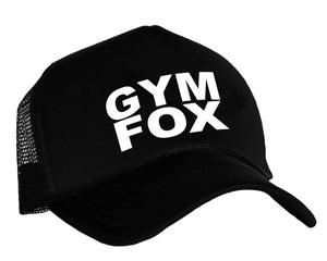 Gym Fox Snapback trucker cap in black and white