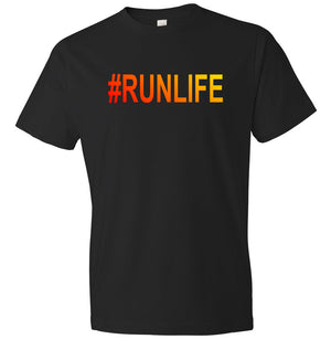 #Runlife graphic t-shirt in black