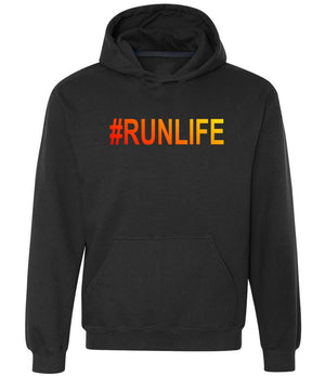 Runner's graphic hoodie #Runlife in black