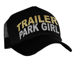 Women's trailer park hat in black, gold and silver