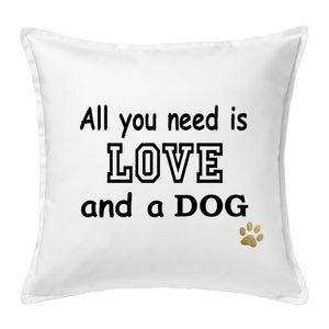 Dog accent pillow