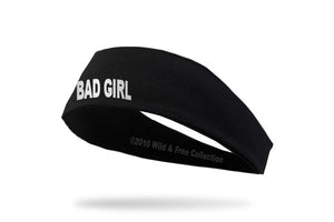 "Ladies graphic headband for motorcycle ride ""Bad Girl"""