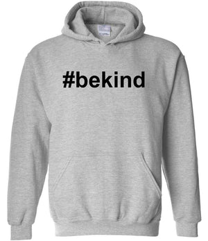 #bekind hoodie in grey and black