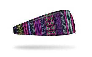 aztec athletic headband, aztec workout headband, aztec yoga headband