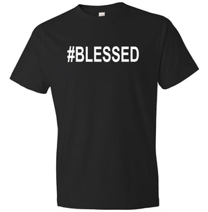 #Blessed graphic t-shirt in black and white