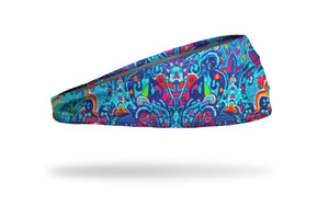 turquoise yoga headband, workout headband, athletic headband