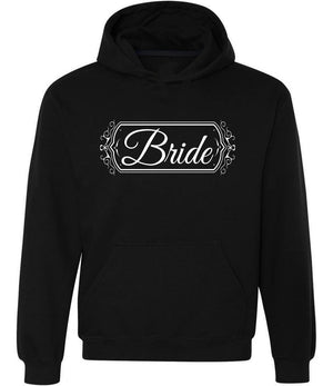 Bride graphic hoodie in black and white