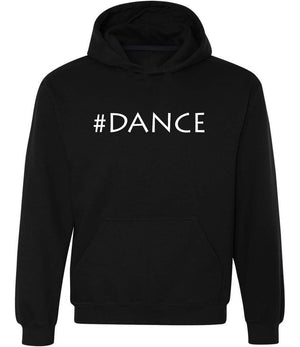 #Dance graphic hoodie in black and white