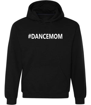 #dancemom graphic hoodie in black and white