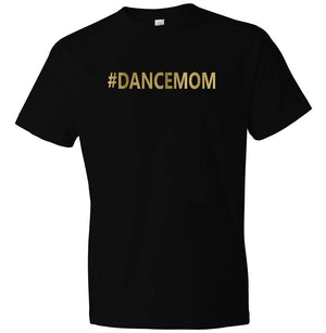 #dancemom t-shirt in black and gold