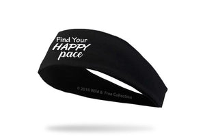 Find your happy pace graphic headband for runner's