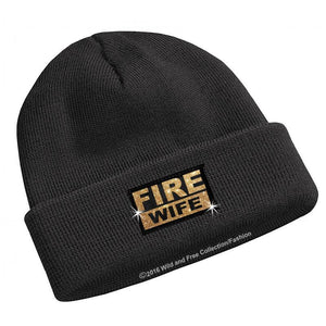 Firefighter wife beanie hat