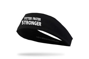 "Runner's Graphic Headband ""Fitter Faster Stronger"""