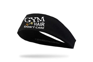"graphic headband for the gym ""Gym Hair Don't Care"""