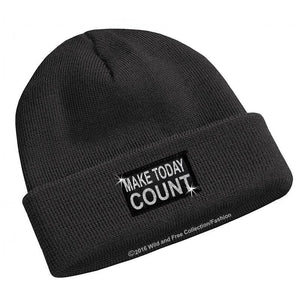 Make today count beanie hat
