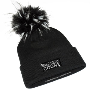make today count winter pom pom hat