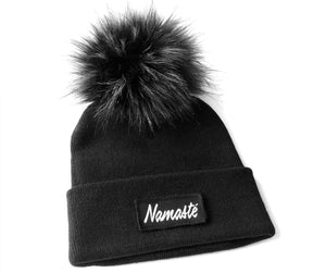 Namaste Yoga Beanie Toque with Pompom