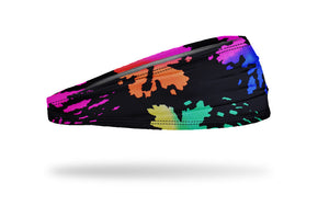 paint splash headband, yoga headband, workout headband, runner's headband