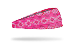 pink aztec athletic headband, workout headband, yoga headband