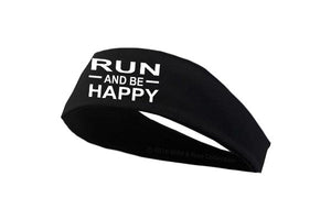 run and be happy headband, runners headband