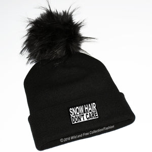 skiers hat, snow hair don't care, present for skier