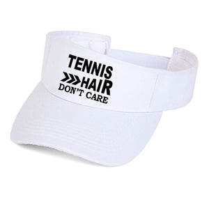 tennis hair dont' care visor hat