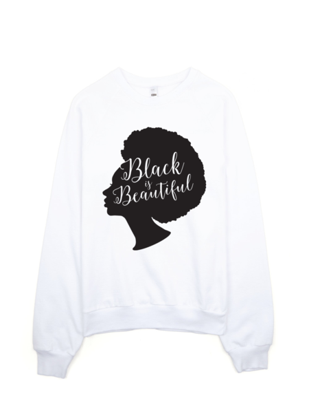 Bon Bon Vie Black Is Beautiful 2.0 Sweatshirt White