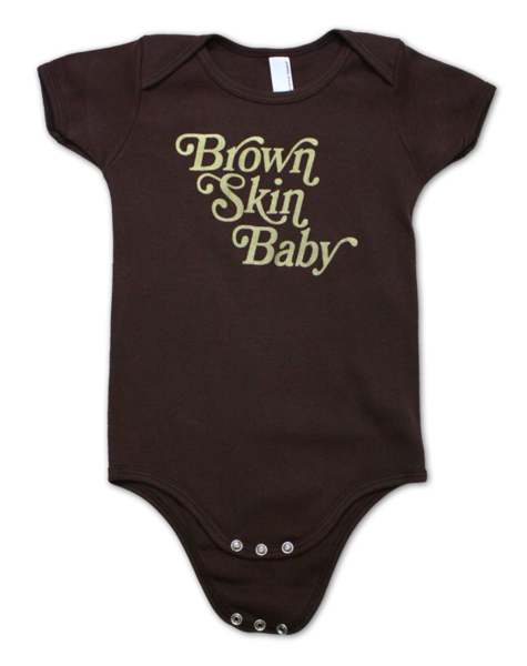 Bon Bon Vie Brown Skin Baby One-Piece Brown