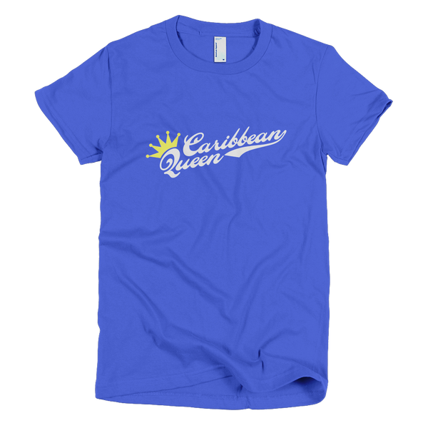 Bon Bon Vie Caribbean Queen T-Shirt Royal Blue